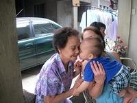 lucas and grandmother