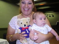 "Rebecca & Chris Dance contest winners. They won the ""We're Number 1"" bear."