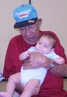 The oldest and the youngest. Frank Maldonado, in his late 80s and Christopher Maldonado Guel, three months.